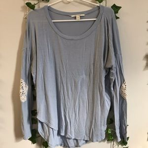 Powder blue long sleeve